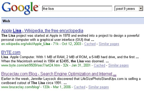 When Google First Found these Pages