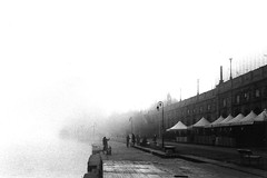 un velo di eleganza #2 (morning lord) Tags: bw film fog vintage torino blackwhite fiume foggy bn po rod hp5 nebbia turin ilford bianconero analogica 400asa analogic pellicola murazzi contax139q diecicento bncitt bnscorci morninglord mcb1608 davidegreco