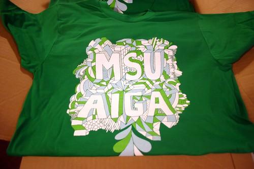 msu aiga t-shirts by will bryant