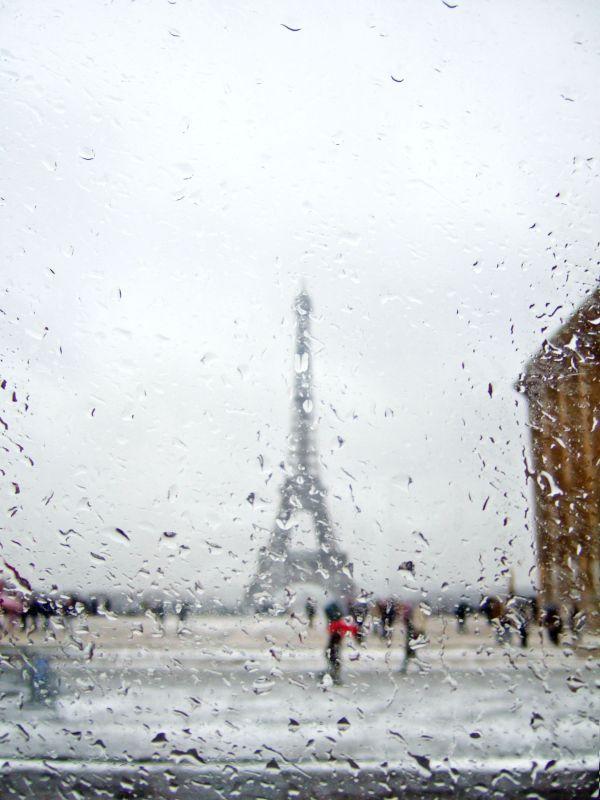 Eiffel Tower, Rain, Paris