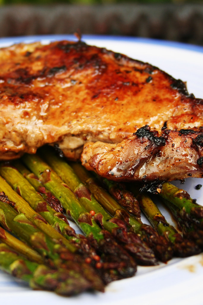 16th May 2008 - Barbecued local veal and asparagus