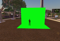 Green Screen in Second Life (foto door: PiAir (Old Skool))