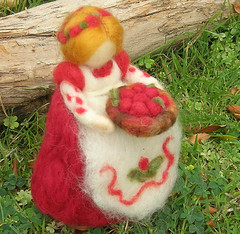 Cranberry Mother (Nushkie Design) Tags: christmas flowers blue autumn red summer orange brown green fall wool nature angel standing garden children pumpkin toy moss spring gnome doll child play sheep handmade waldorf decoration mother harvest fuchsia sprite elf cranberry fairy ornament figure lamb toadstool etsy mermaid fiberart decor turquois elsa faerie bookmark hanukkah imaginative rus ewe bendable softsculpture elsabeskow naturetable nee