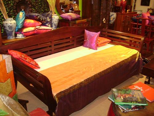Teak Day Bed Teak Asian Mahogany Bamboo Rattan Furniture - WorldWide Furnishings 970 Queen St Honolulu Hawaii 96814: (Diamond Head Side of Ward) Open Monday-Sunday 10am-6pm Stop by or Call 808-593-212