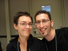 Andrea and Mark at the Kidlit Conference