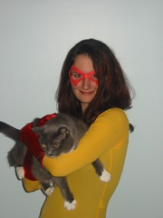 Halloween '07 (u2acro) Tags: party halloween cat comics allison costume comic spiderman pixel superhero firestar