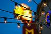 Early Night (olvwu | 莫方) Tags: light usa sign lightbulb bulb night orlando wire florida fl jungpangwu oliverwu oliverjpwu flickrexplore explored olvwu jungpang 莫方 吳榮邦