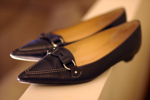 Black J. Crew flats from the spring '06 catalog