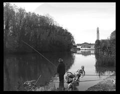 L'ATTESA (Novella Regalini) Tags: life river blackwhite fisherman waiting poetry shots explore treviso attesa smrgsbord casier