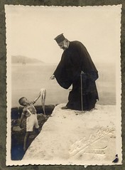 In Thassos (alison will) Tags: history film cane greece 1940s octopus kavala blackandwhitephotography orthodoxy clergy greekorthodoxchurch thassos vintagephotographs archimandrite jasonides polikarposkinigopoulos