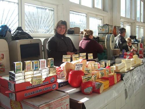 Cheese at Privoz Market, Odessa