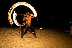 Fire Dancer (Dustin Rudgers) Tags: people beach night thailand island fire dance asia kophiphi firedancer