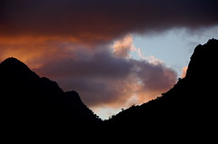 Kualoa Sunset: Mountain Silhouette (AH in Pgh) Tags: blue sunset orange mountains silhouette clouds hawaii purple oahu vista koolaumountains windwardoahu kualoapark kualoaregionalpark