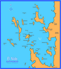 Map of El Nido