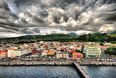 Storm Clouds over Dominica (Jeff Clow) Tags: travel cruise vacation storm clouds harbor threatening jpeg hdr dominica roseau sigma1020mm 1exp mywinners superbmasterpiece dynamicphotohdr nikond300 jeffrclow