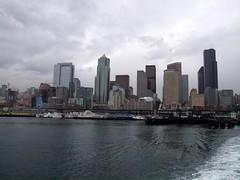 Downtown Seattle (Travis S.) Tags: seattle ferry docks washington downtown pugetsound elliotbay bankofamericatower columbiacenter