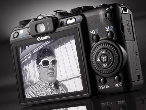 Foto de Canon PowerShot G9 con cara de Alexliam