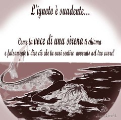 L'ignoto (Elisadc) Tags: boy sea love girl photoshop unknow voice poesia poems amore siren sentence lizzy sirena grafica aforisma elisadellachiesa