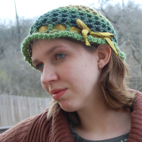cabbage rose hat free crochet pattern