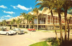 Sears - E Hillsborough Ave / 22nd St, Tampa  (now Erwin) (JSDesign) Tags: school building history cars college retail architecture modern tampa logo concrete store weed parkinglot streetlight russell fifties florida landscaping sears postcard johnson shell bluesky palm architect departmentstore palmtree 1950s tropical 1957 50s vault script canopy googie department zigzag hitech erwin modernist overhang midcenturymodern hillsborough searsroebuck midcentury pleated 22ndst mcm bigbox votech vocational seminoleheights trapezoidal searsroebuckandco accordionfold funlan concreteshell concretelace hillsboroughave erwinvocationaltechnicalcenter foldedplate foldedshell robertlawweed hillsboroughcountyschoolboard robertweed