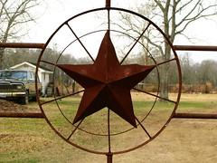 Texas star near Dolen, Texas, USA