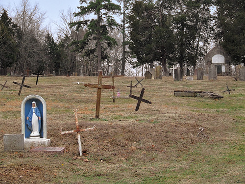 Saint Joachim Roman Catholic Church, in Old Mines, Missouri, USA - cemetery