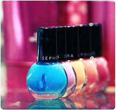 m a n i c u r e (heartbreaker [London]) Tags: pink blue orange black reflection colors colorful nail polish explore manicure nailpolish sephora mywinners foshya