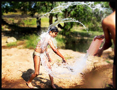 The Perfect Splash (zinal.patel) Tags: lake water river play action joy splash drama holi pca zinal paani