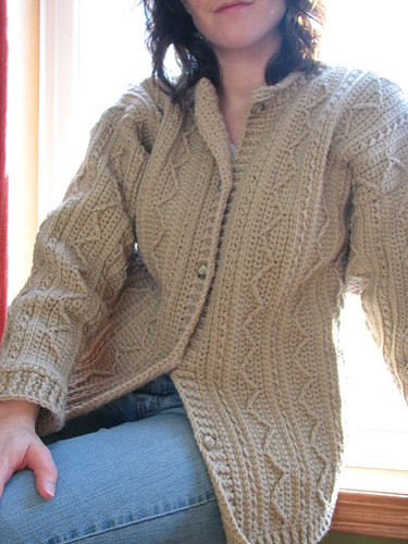Not your average crochet (Amazing aran cardigan by JRoKnits