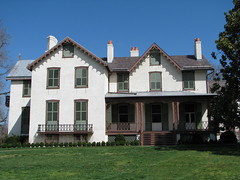 The southern elevation of President Lincoln's Cottage in early April 2008.