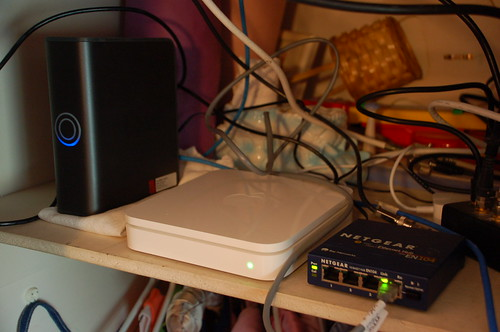 New AirPort Extreme base station with hub and hard drive