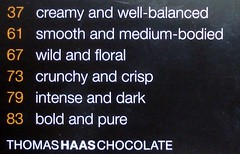 creamy and well-balanced (mag3737) Tags: 37 61 67 73 79 83 numbers chocolate creamy wellbalanced smooth mediumbodied wild floral crunchy crisp intense dark bold pure thomas haas thomashaas