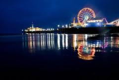 Nights and Lights (Thomas Hawk) Tags: night pier 10 santamonica fav20 ferriswheel rollercoaster santamonicapier fav30 fav10 fav25 photowalking superfave photowalking080407