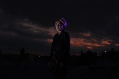 (John.Somerville) Tags: isobelward woman portrait sky gels flash light