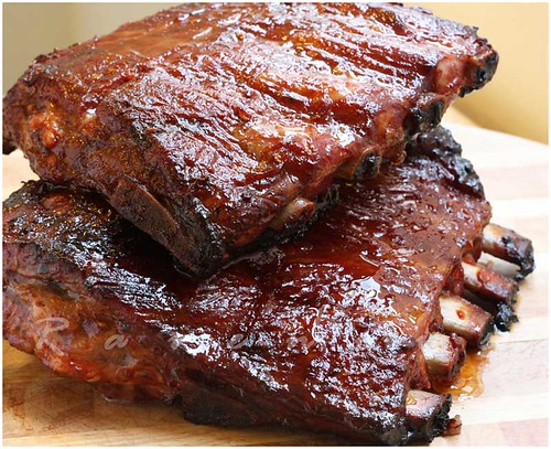Hoisin Glazed Barbecue Pork Ribs