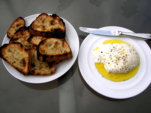 Burrata on Grilled Bread
