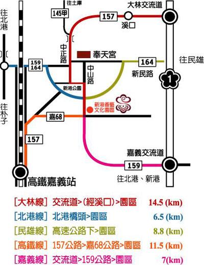 嘉義新港香藝文化園區地圖