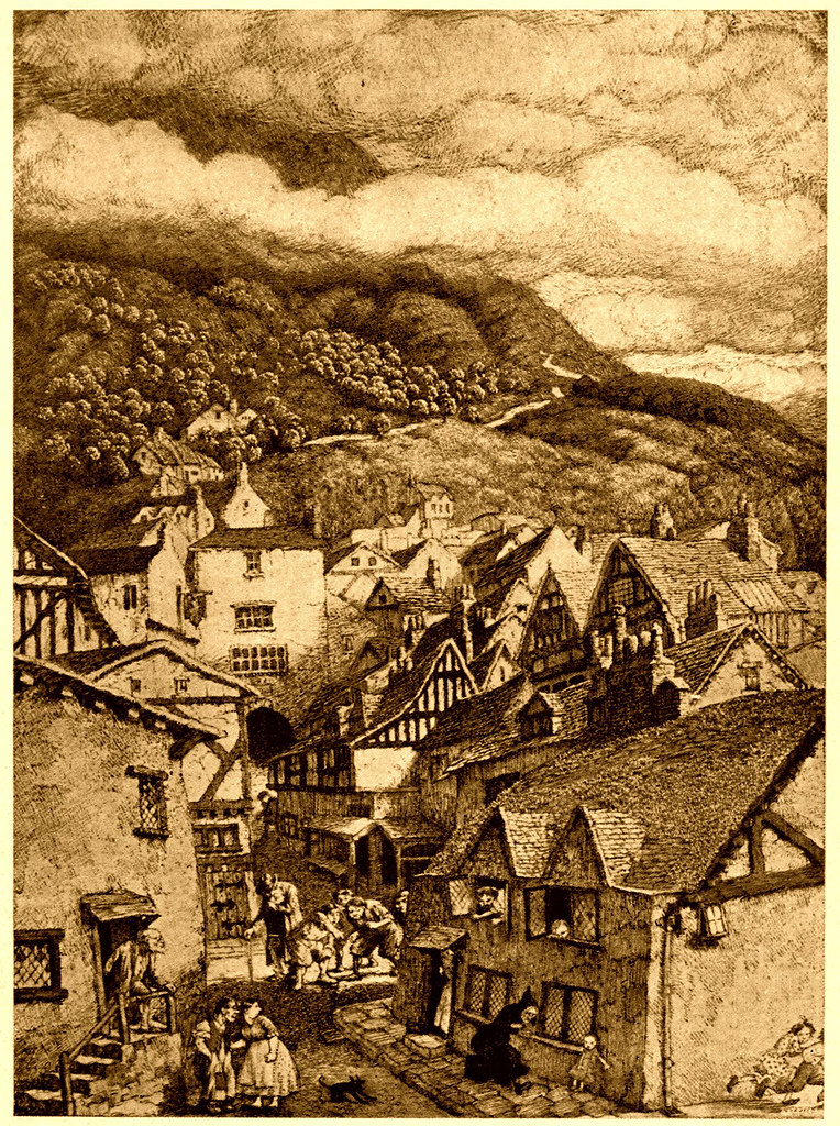 Sidney Sime - The Bad Old Woman In Black Ran Down The Street Of The Ox-Butchers (1916)