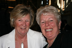 Pam Robinson and Susan Brazier, aka 'The Mums'