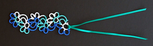 Flower Bookmark Blues Greens