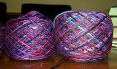 Hand Painted/Dyed Sarah Yarns 100% Bamboo - Berry Tasty
