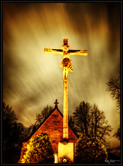 Christ (Kaj Bjurman) Tags: night eos christ sweden stockholm cemetary hdr kaj cs3 photomatix 40d bjurman