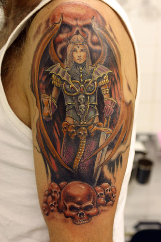 Warrior-woman-cover-up Tattoo
