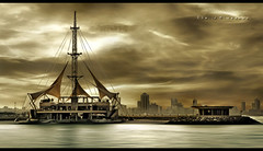 Around the Marina - Kuwait (khalid almasoud) Tags: city rock marina canon buildings lens eos seaside day photographer cloudy around 24 kuwait 105  khalid    xti  400d almasoud mscamera     kuwaitartphoto salmiyyah