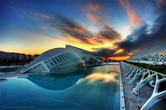 City of Arts and Sciences at dawn (Salva del Saz) Tags: city santiago sky espaa valencia canon dawn spain bravo arts dramatic ciudad amanecer calatrava cac artes soe 1022mm vlc hdr highdynamicrange sciences 1022 ciencias efs1022mm 40d salvadordelsaz salvadelsaz goldenphotographer eos40d