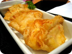 Shrimp Cheese Wanton Poppers