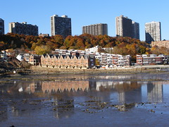 Edgewater NJ (Hudson River low tide reflections - the Moorings and Vela Townhomes with Fort Lee Highrises in the distance) (jag9889) Tags: houses homes newjersey waterfront nj hudsonriver vela edgewater condominiums fortlee 2007 townhouses moorings bergencounty 07020 zip07020 y2007 zip07024 07024 jag9889
