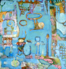 Hopes (CatJoySees) Tags: abstract color acrylic paintings structure expressionism figurative cathiejoyyoung