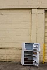 Latte (LukeOlsen) Tags: usa abandoned cup coffee oregon portland mocha refrigerator freezer spill latte lukeolsen