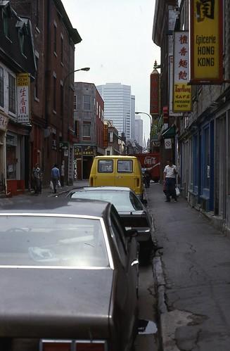 Rue de la Gauchetière au Chinatown 1984